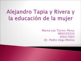 Alejandro Tapia y Rivera y la educación de la