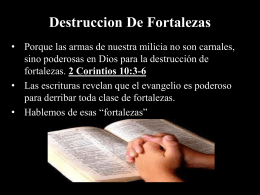 Destruccion De Fortalezas