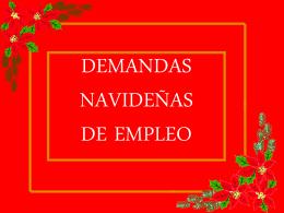 Demandas navideñas de empleo