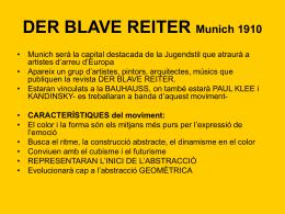 DER BLAVE REITER Munich 1910