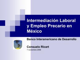 Empleo e intermediación laboral