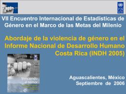 Abordaje de la violencia de género en el Informe