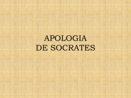 APOLOGIA DE SOCRATES - UCA Pontificia Universidad