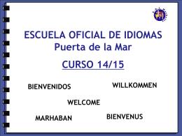 ESCUELA OFICIAL DE IDIOMAS CURSO 08/09