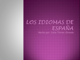 Los idiomas de España