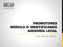 COMMUNITY NAVIGATOR TRAINING MODULE 9: IDENTIFYING