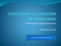 LÓGICA PARA LA SOLUCIÓN DE PROBLEMAS