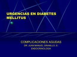 COMPLICACIONES AGUDAS DIABETES MELLITUS