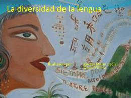 La Diversidad de las lenguas