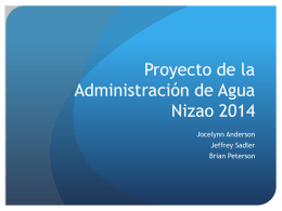 Nizao Water Management Project 2014