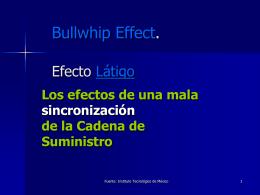 Bullwhip Effect. Efecto Látigo