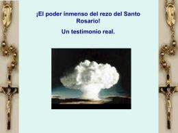 ¡El poder inmenso del rezo del Santo Rosario!