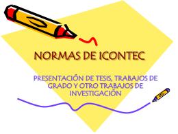 PRESENTACIÓN DE NORMAS DE ICONTEC