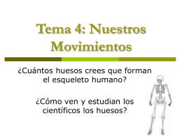 Tema 4: Nuestros Movimientos