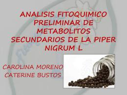 ANALISIS FITOQUIMICO PRELIMINAR DE METABOLITOS