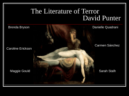 Informe sobre The Literature of Terror de David