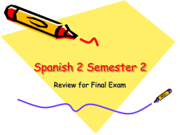 Spanish 2 Semester 2 - WUHS Internal Start Page