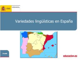 Variedades lingüísticas en España
