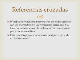 Referencias cruzadas