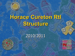 Horace Cureton RtI Structure