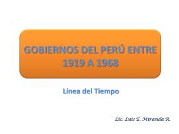 GOBIERNOS DEL PERÚ ENTRE 1919 A 1968