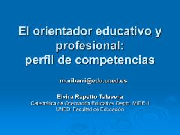 El orientador educativo y profesional: perfil de