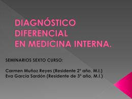 DIAGNÓSTICO DIFERENCIAL EN MEDICINA INTERNA.