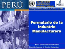 Formulario de la industria manufacturera
