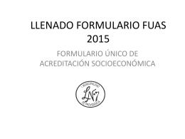 LLENADO FORMULARIO FUAS 2015