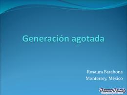 Generación agotada