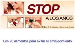 20 ALIMENTOS ANTI-ENVEJECIMIENTO