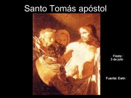 Santo Tomás apóstol - homilias homiletica Jesus