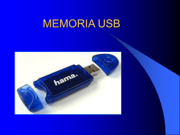 MEMORIA USB - MURAL - Student homepages at