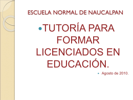 TUTORIA INTEGRAL