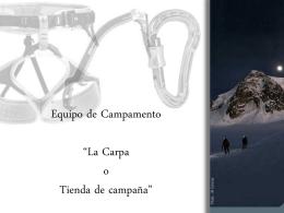 """Introucción al montañismo """"La Cordada"""""""