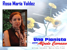 Una pianista para Alfredo Carrasco