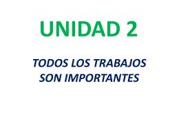 TODOS LOS TRABAJOS SON IMPORTANTES