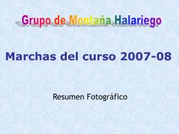 Marchas del curso 2007-08