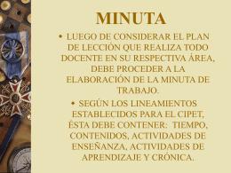 MINUTA - Nury`s Blog | Enlace para fortalecer la