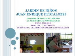 JARDIN DE NIÑOS JUAN ENRIQUE PESTALOZZI