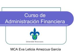 Diapositiva 1 - Curso de Administración Financiera