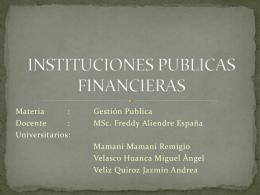 INSTITUCIONES PUBLICAS FINANCIERAS