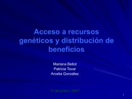 Acceso a los Recursos Geneticos Cuadro Comparativo