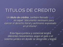 TITULOS DE CREDITO - Rescate Estudiantil
