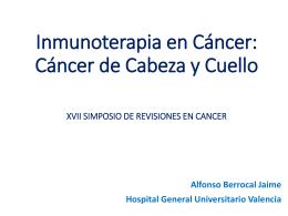 Inmunoterapia en Cáncer: Cáncer de Cabeza y Cuello