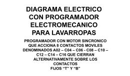 DIAGRAMA ELECTRICO PROGRAMADOR ELECTROMECANICO