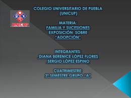 COLEGIO UNIVERSITARIO DE PUEBLA (UNICUP) MATERIA: