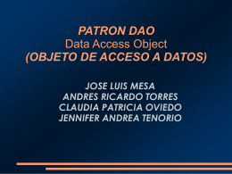 PATRON DAO Data Access Object (OBJETO DE ACCESO A