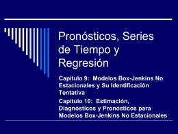 Pronósticos, Series de Tiempo y Regresión