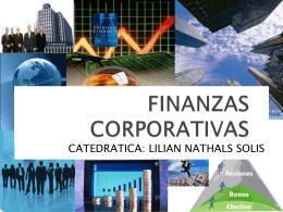 FINANZAS CORPORATIVAS - Lilian Nathals Solis |